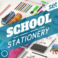 school set 3d model