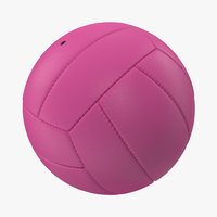 volleyball ball pink 3d model