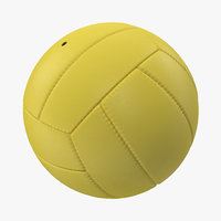 3d obj volleyball ball yellow