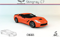 3d corvette stingray c7 model