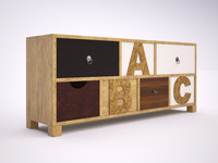 3d commode abc model