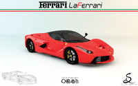 laferrari ferrari 3d model