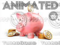 pig piggy bank 3d 3ds