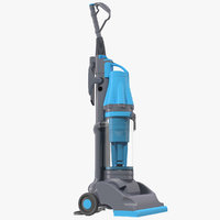 stand vacuum cleaner blue 3d model