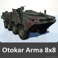 arma 8x8 apc vehicle 3ds