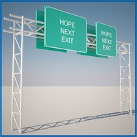 highway sign 3d model