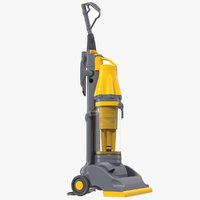 stand vacuum cleaner yellow 3d c4d