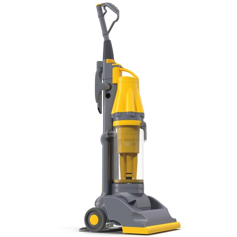 Stand Up Vacuum Cleaner Yellow 3d model 01.jpg