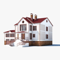 classic house 3d obj