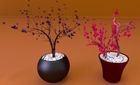 3dsmax centerpiece flowers vases