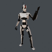 robot assassin 3d obj