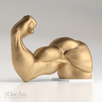3d hands bodybuilder