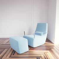 poltrone neo armchair ligne roset 3d obj