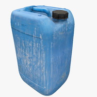 3d model plastic dirty jerrycan polys