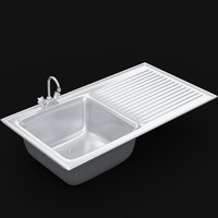 3d kitchen sink uv unwrapped model