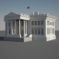 3d model lil white house