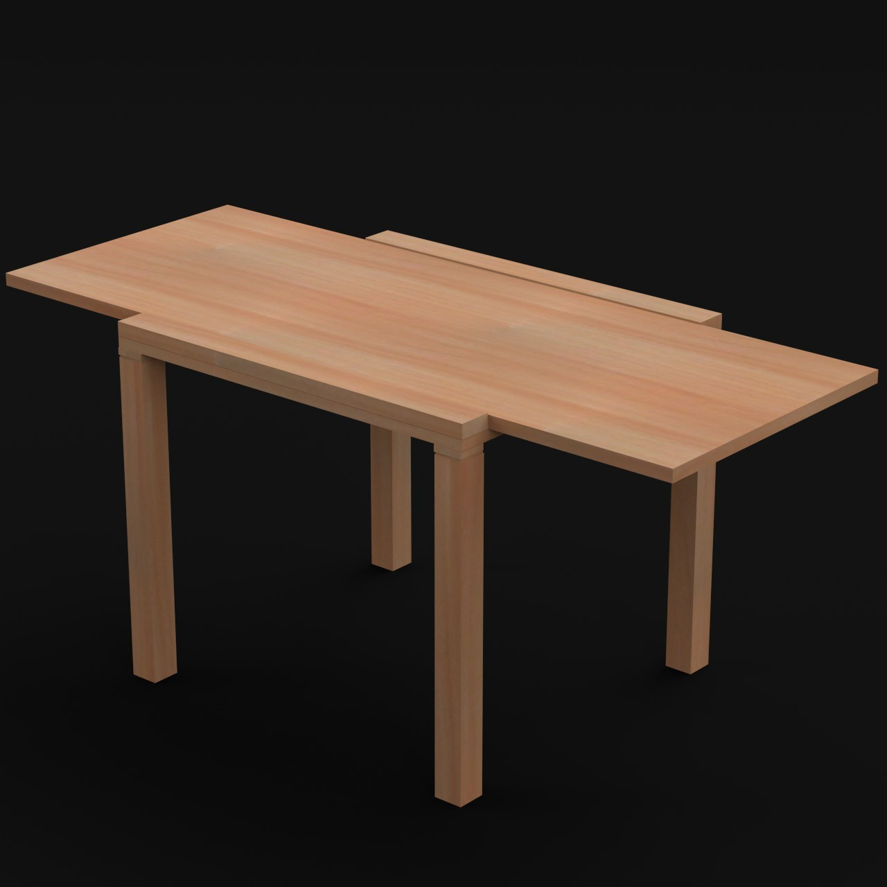 Wooden extended table uv 3ds for Table th 00 02