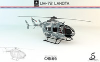c4d helicopter uh-72 lakota designs