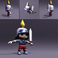 Chibi Knight 3D Model