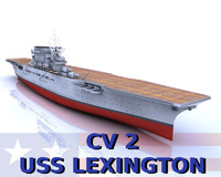 uss lexington cv-2 c4d