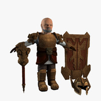 dwarf warrior shield 3d max