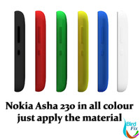 nokia asha 230 colours 3d model