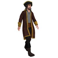 3ds max rigged pirate hat