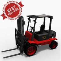 3d model hight lift truck desta