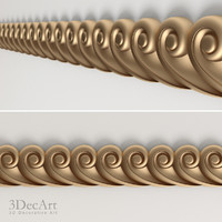 decorative frieze 3d model