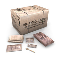 3d model american military rations