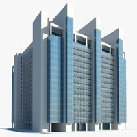 3d business center building