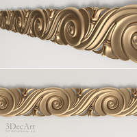 3d model decorative frieze interior