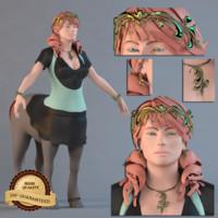 female centaur 3d model