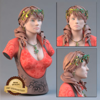 female face 3d obj