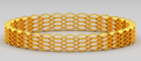 3ds max golden bracelet
