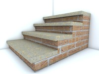 3d stairs model