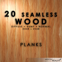 20 High Resolution Seamless Wood Textures - Planks