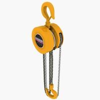 hand chain hoist 3d model