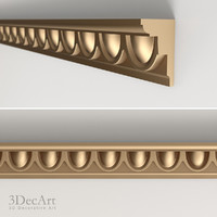 3d model of decorative molding