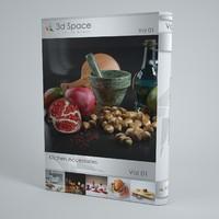 3d food kitchen slice model