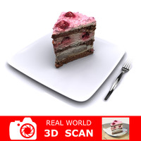 scanned raspberry cake 3ds