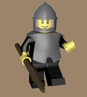 3d lego character rigged model