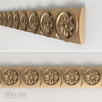 carved frieze 3d model