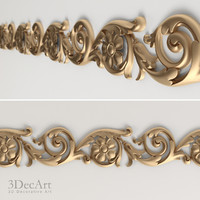 interiors carved moldings 3d obj