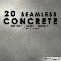 20 High Resolution Seamless Concrete Textures