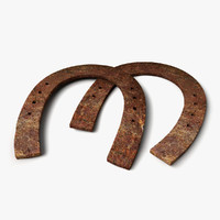 3d old horseshoes model
