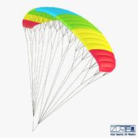 3d model paraglider v 2