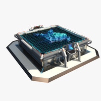 3d futuristic sci fi table