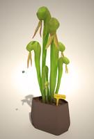 3ds max darlingtonia californica plant