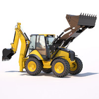 3ds max backhoe loader